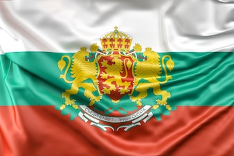 Flag of Bulgaria with Coat of Arms
