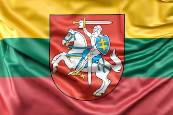 Flag of Lithuania with Coat of Arms