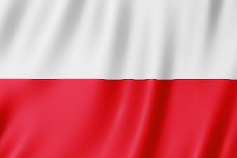 Flag of Poland. Illustration of the Polish flag waving.