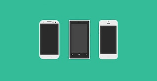 Flagships mobile phones mockups PSD