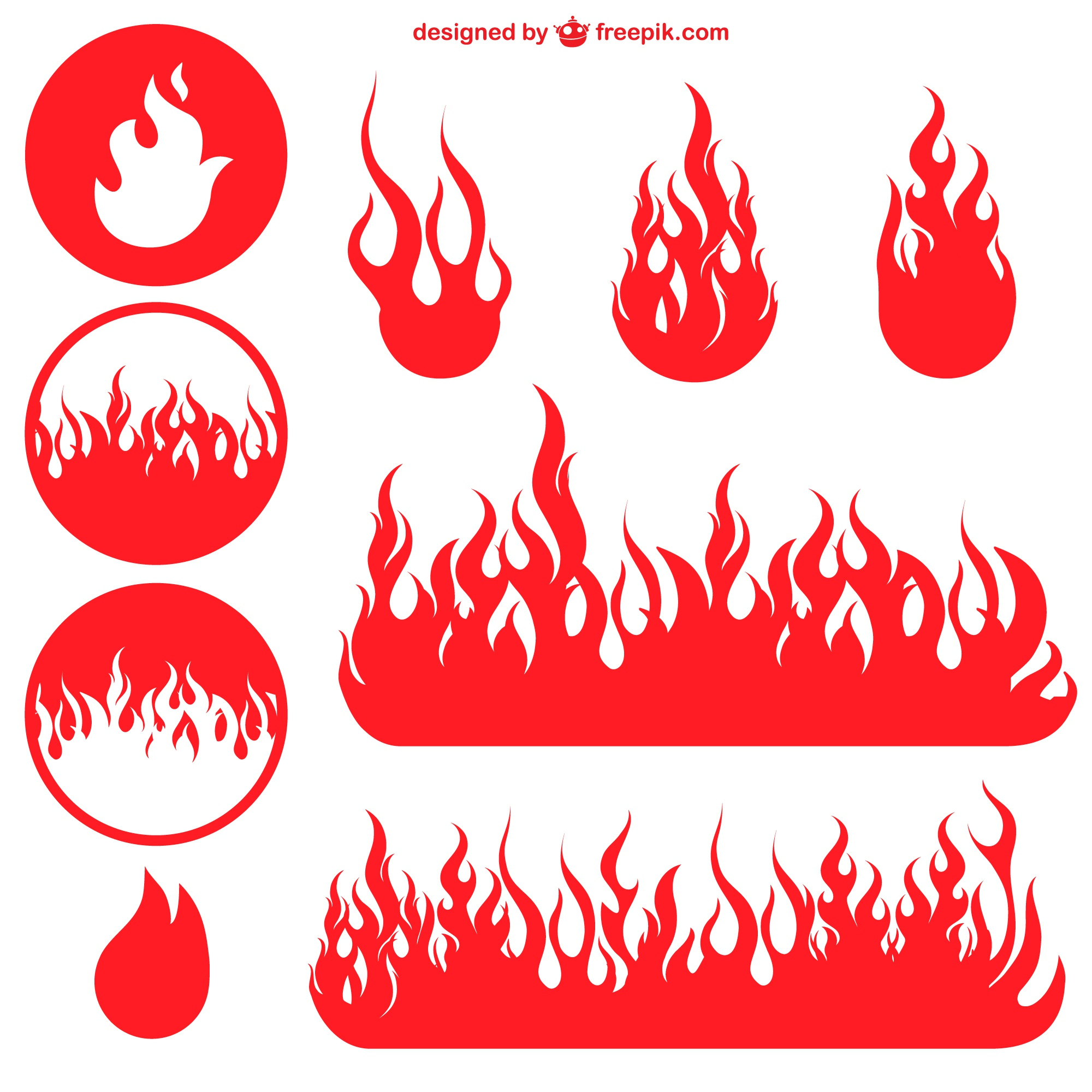 Flame free vector graphics