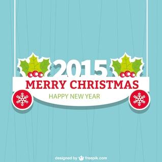 Flat Christmas card for 2015