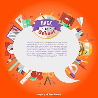 Flat icons spech bubble school template