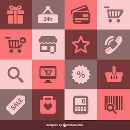 Flat shopping vector set