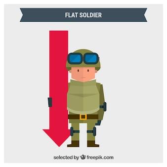 Flat soldier
