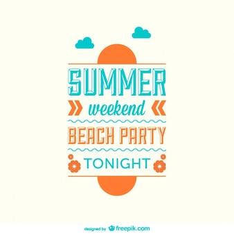 Flat summer minimalist poster