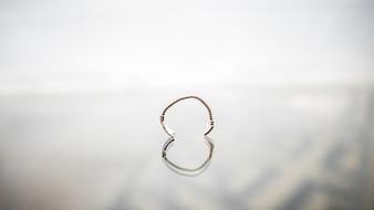 Flexible glass rings vintage chain art