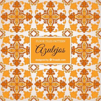 Floor tiles pattern in orange tones