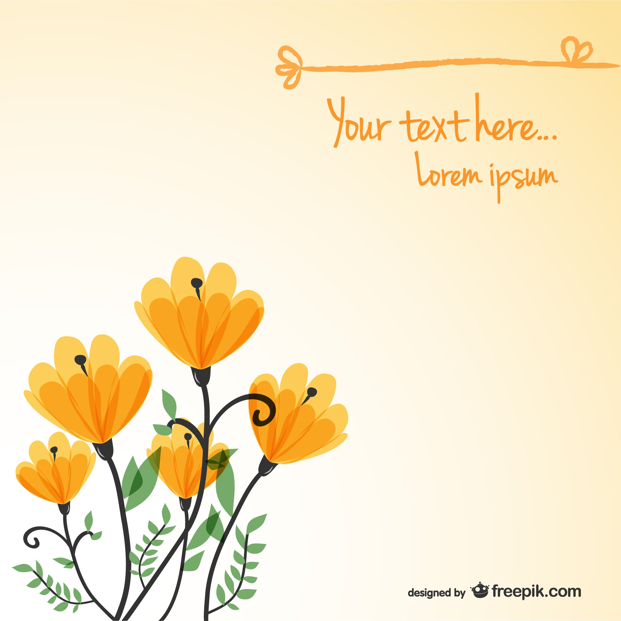 Floral background card template