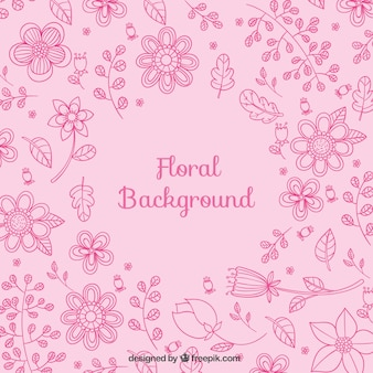 Floral background in pink tones