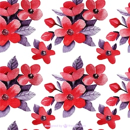 Floral background in red and purple tones