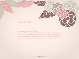 Floral Background Rose Design