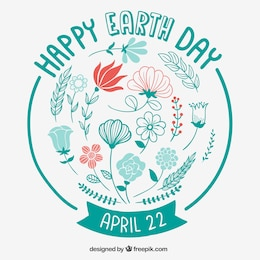 Floral card for earth day