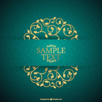 Floral card retro style background