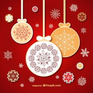 Floral Christmas baubles