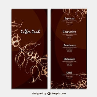 Floral coffee list template