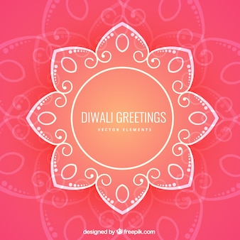 Floral diwali greetings