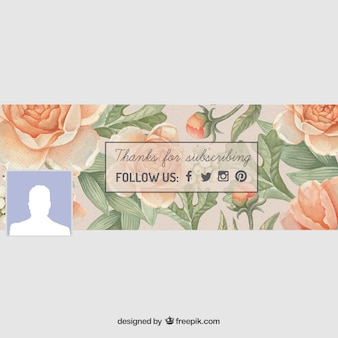 Floral facebook cover