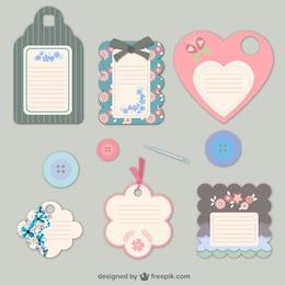 Floral fashion tags