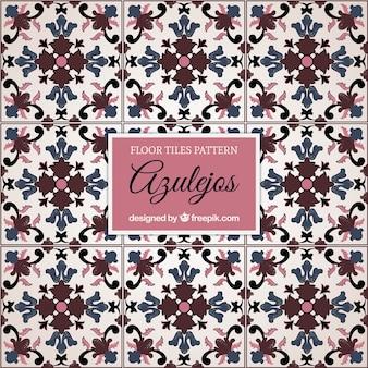 Floral floor tiles pattern