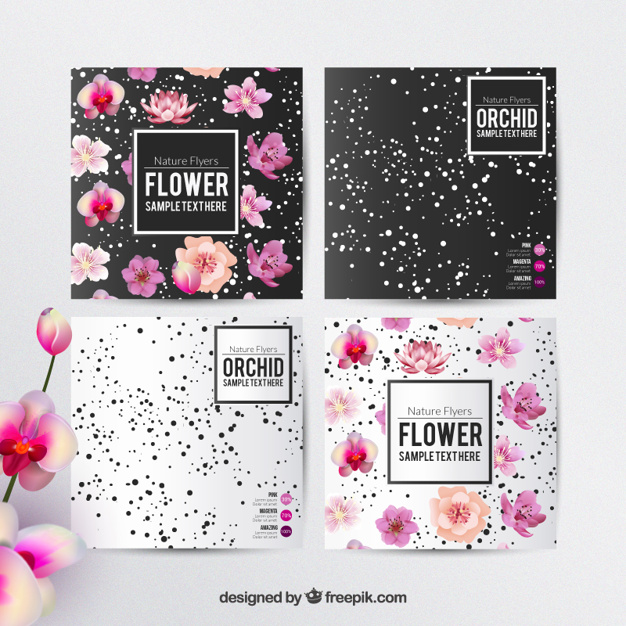 Floral flyers template