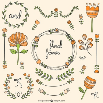 Floral frames and ornaments