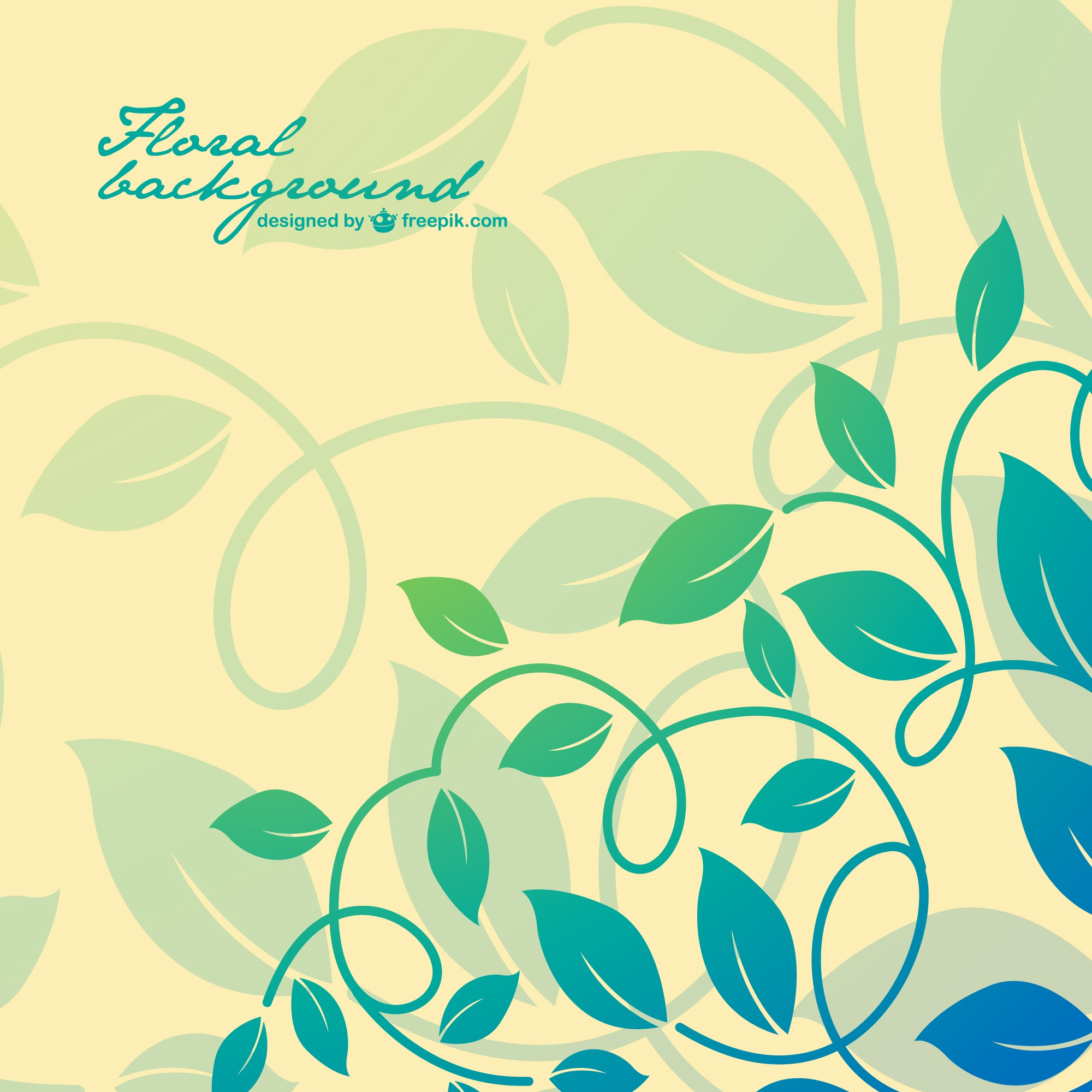 Floral free abstract background