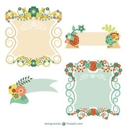 Floral graphic elements free set