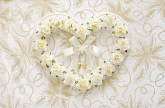 Floral heart for wedding