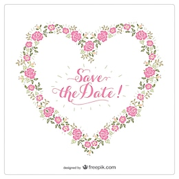 Floral heart invitation
