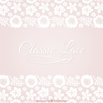 Floral lace background