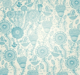 Floral light classic pattern background