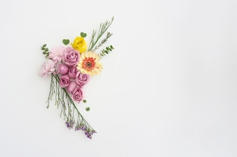 Floral ornament on white background