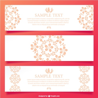 Floral ornamental banner design