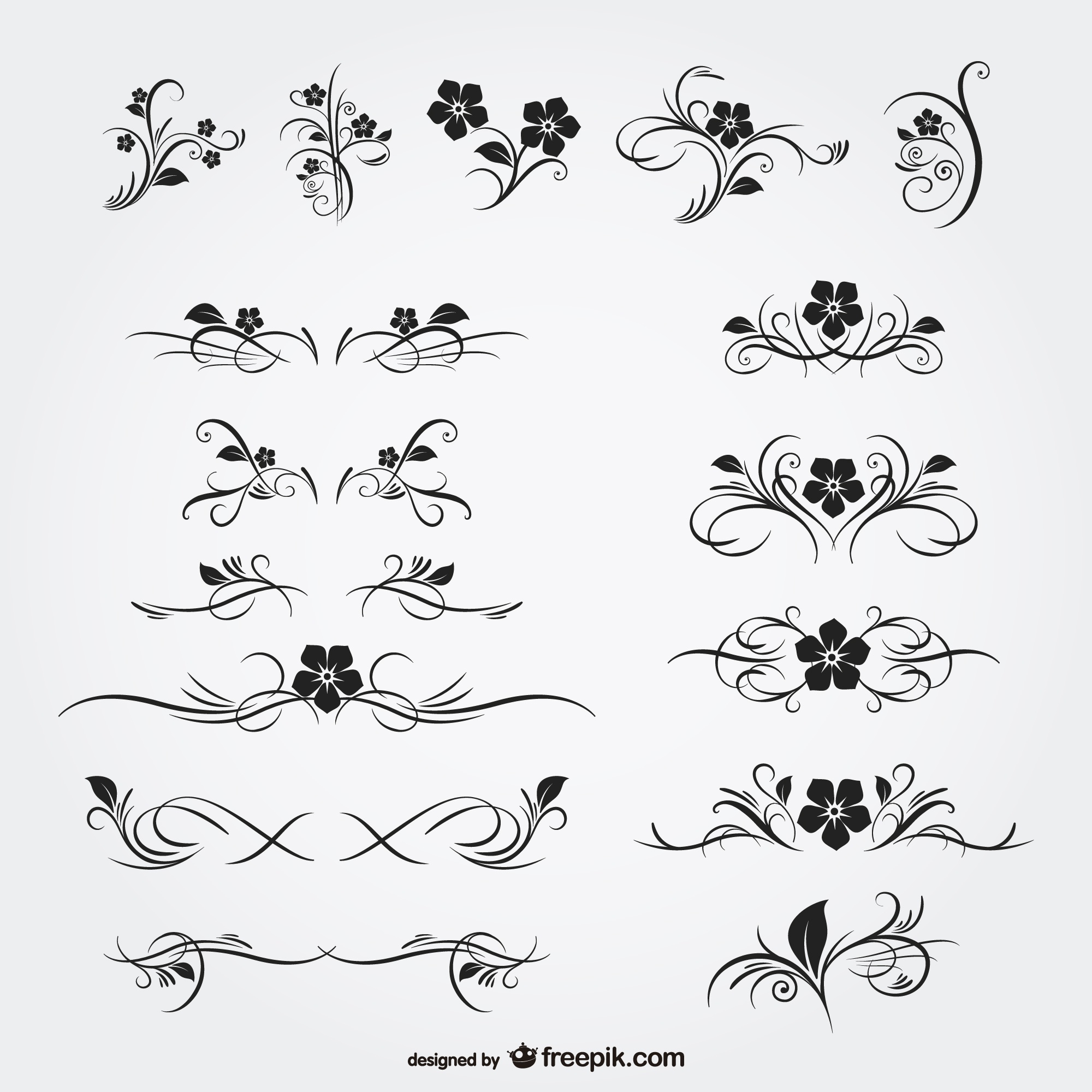 Floral ornaments free graphics