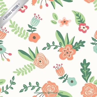 Floral pattern in spring style