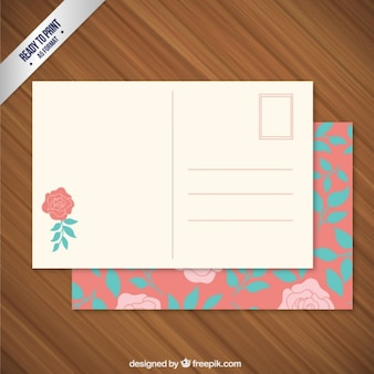 Floral post card
