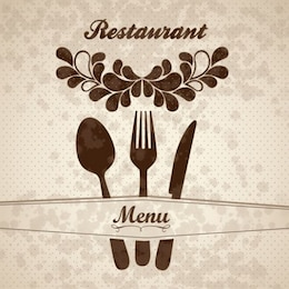 Floral restaurant menu