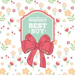Floral ribbon sale vector