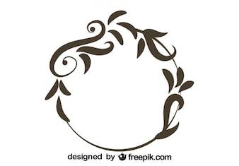 Floral Round Vintage Design