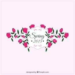 Floral spring label