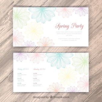 Floral spring party flyer