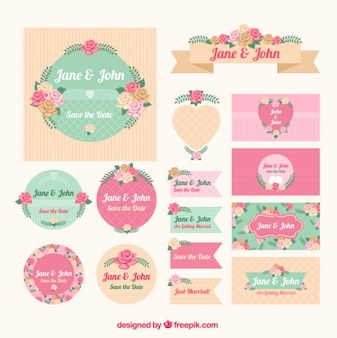 Floral stationery for wedding