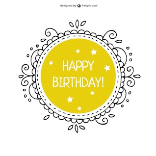 Floral vector birthday card free dowload