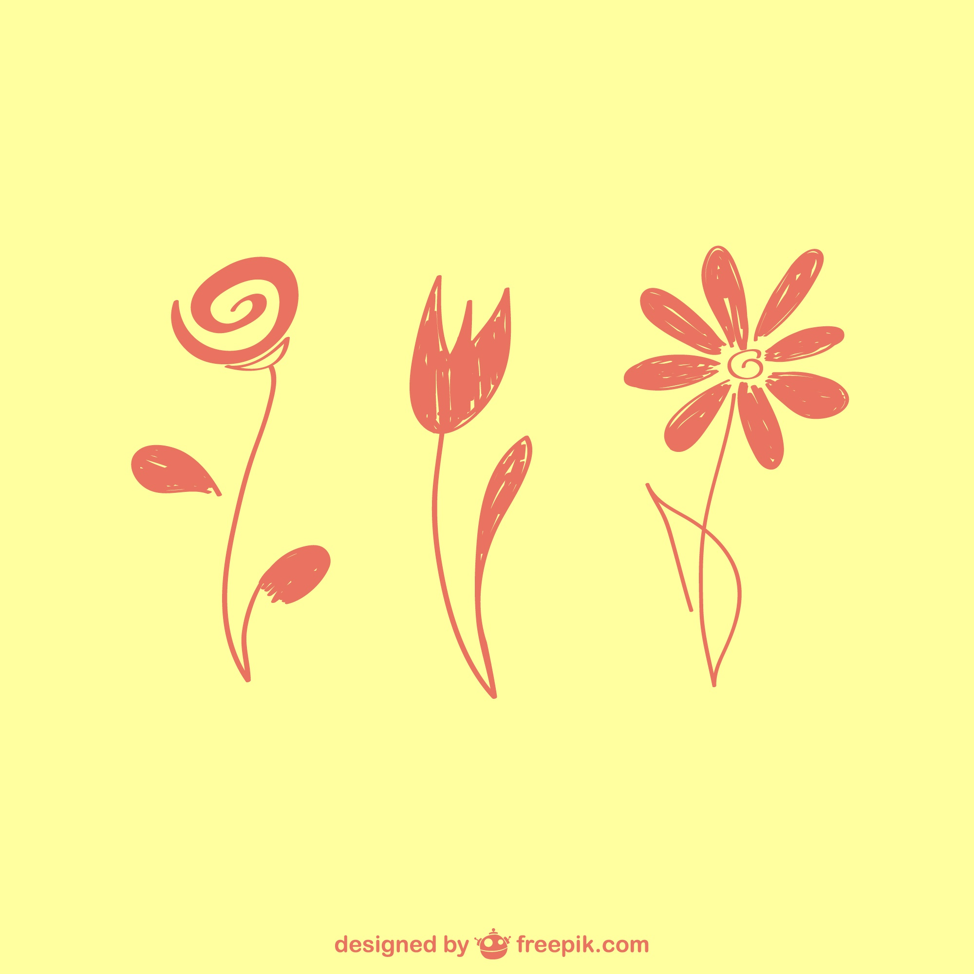 Floral vector free graphic elements