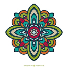 Floral vector ornament free