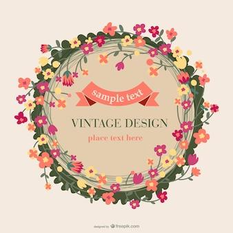 Floral vintage card design
