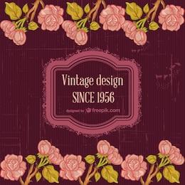 Floral vintage template design