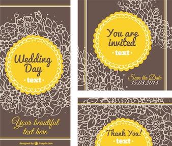Floral wedding card templates