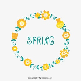 Floral wreath for spring